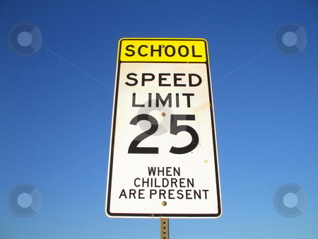 Speed Limit Road Sign stock photo,  by Michael Felix