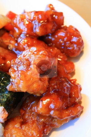 Sweet and Sour Chicken stock photo,  by Michael Felix