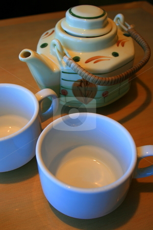 Teapot and Cups stock photo,  by Michael Felix