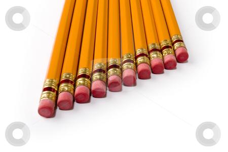 Pencils stock photo, Studio shot of ten pencils in a row, by iodrakon