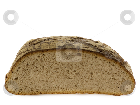 Fresh bread stock photo, Loaf of bread isolated on white background by Birgit Reitz-Hofmann