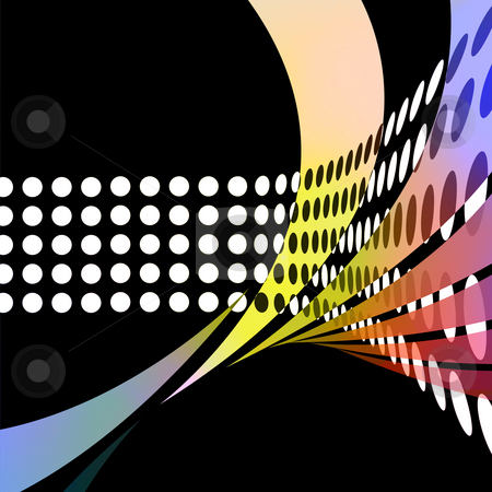 Abstract 3D Dots stock photo, An abstract design with swoosh lines and circles in a 3D design. by Todd Arena