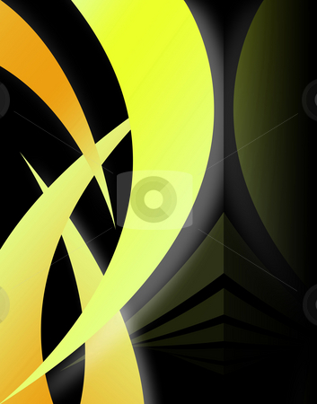 Abstract Swoosh Layout stock photo, A modern background layout with swooshy lines - very modern. by Todd Arena