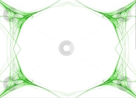 Fractal 42 Green Frame stock photo, Beautiful flows of green color build this fractal by Henrik Lehnerer