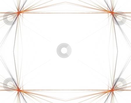 Fractal 48 Orange Frame stock photo, Beautiful flows of different color build this fractal by Henrik Lehnerer