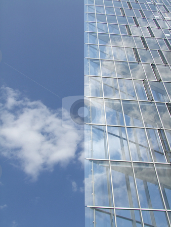 Modern office building stock photo, Modern architecture with glass windows by Birgit Reitz-Hofmann