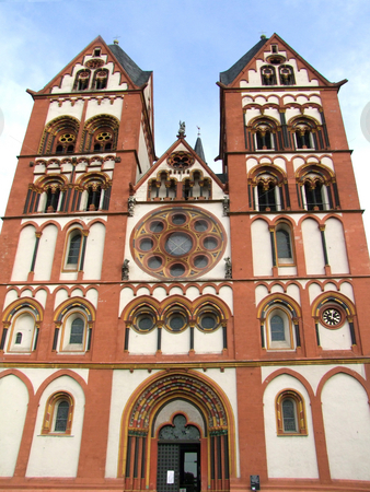 Church stock photo, A view with an old catholic church in germany by Birgit Reitz-Hofmann