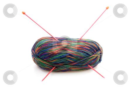 Colorful Wool stock photo, Multicolored wool on bright background. Shot in studio. by Birgit Reitz-Hofmann
