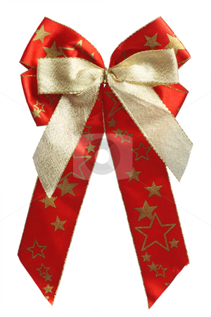 Gift ribbon stock photo, Gift ribbon on white background. Shot in Studio. by Birgit Reitz-Hofmann