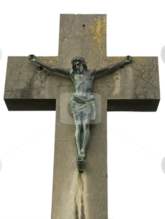 Jesus stock photo, Jesus sculpture isolated on white background by Birgit Reitz-Hofmann