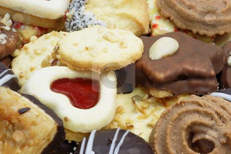 Cookies stock photo, Colorful cookies as background. Shot in studio. by Birgit Reitz-Hofmann