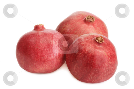 Pomegranate_2 stock photo, Fresh pomegranate on white background by Birgit Reitz-Hofmann