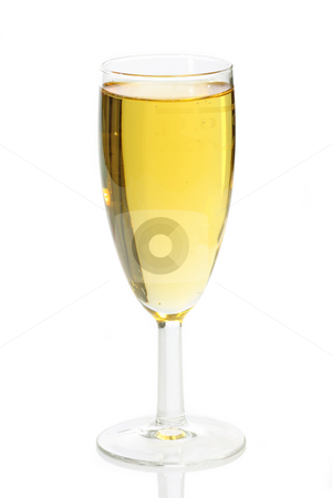 Champagne flute stock photo, Champagne flute isolated on white background. by Birgit Reitz-Hofmann