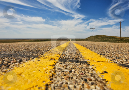 Rural road stock photo, A low angle view of a rural highway by Steve Mcsweeny