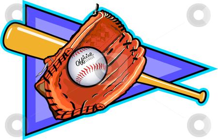 Baseball stock vector clipart, A vector illustration depicting the sport of baseball. by Erasmo Hernandez