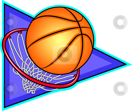 Basketball stock vector clipart, A vector illustration depicting the sport of basketball. by Erasmo Hernandez