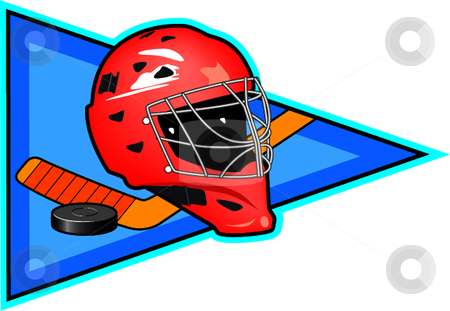 Ice Hockey stock vector clipart, A vector illustration depicting the sport of ice hockey. by Erasmo Hernandez