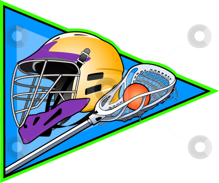 Lacrosse stock vector clipart, A vector illustration depicting the sport of lacrosse. by Erasmo Hernandez