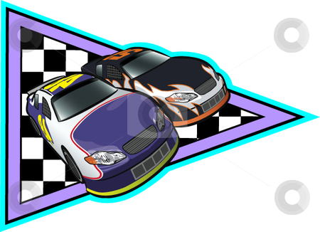 Auto Racing stock vector clipart, A vector illustration depicting auto racing. by Erasmo Hernandez