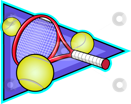 Tennis stock vector clipart, A vector illustration depicting the sport of tennis. by Erasmo Hernandez