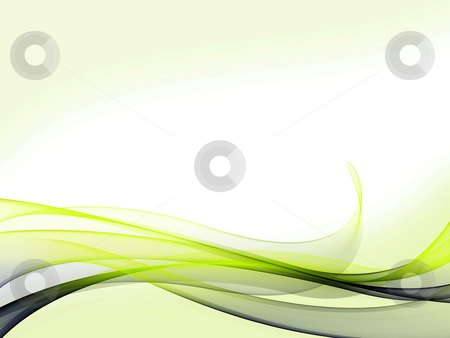 Dynamic Wave Background stock photo, A set of blue/green gradient dynamic waves and lines with light green background on bottom and top by Alexander Zschach