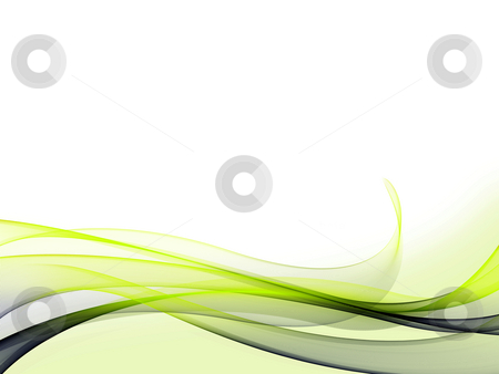 Dynamic Wave Background stock photo, A set of blue/green gradient dynamic waves and lines with light green background on bottom by Alexander Zschach