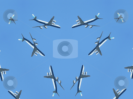 Airplanes Background Pattern stock photo, Airplanes Background Pattern by Dazz Lee Photography