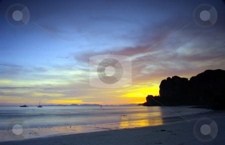 West Railay Beach stock photo, West Railay Beach. Krabi province, Thailand by Martin Darley