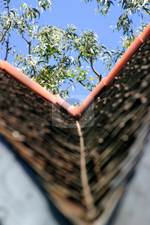 Roof stock photo, Different view of a rooftop with a shallow dof. by Henrik Lehnerer