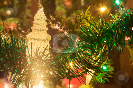 Decoration detail stock photo, Christmas, color, colorful, colour, colourful, dark, decoration, holidays, home, Led, light, winter, close up by Creative Shield