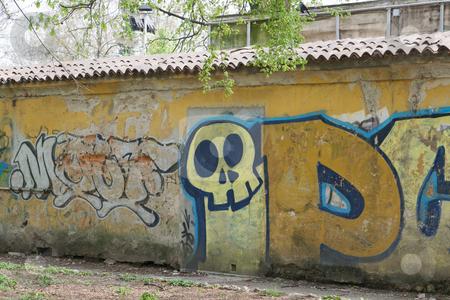 Wall graffiti stock photo, Wall graffiti by Creative Shield