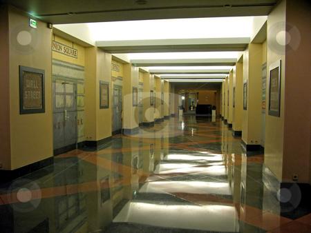 Hotel Corridor stock photo, A look down a long hotel corridor by Lucy Clark