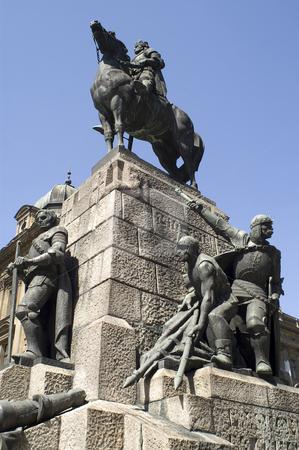 Grunwald monument stock photo, The Grunwald monument in Plac Matejki, Krakow, Poland by Stephen Sienczyk