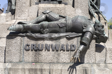Grunwald monument stock photo, The Grunwald monument in Plac Matejki, Krakow, Poland by Stephen Sienczyk