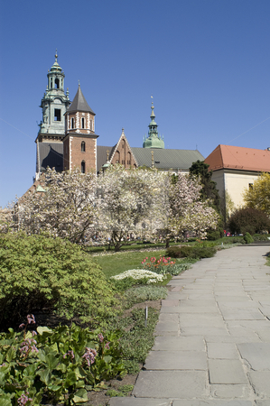 Path to Wawel stock photo, Path from the outer courtyard to the Wawel, Krakow, Poland by Stephen Sienczyk