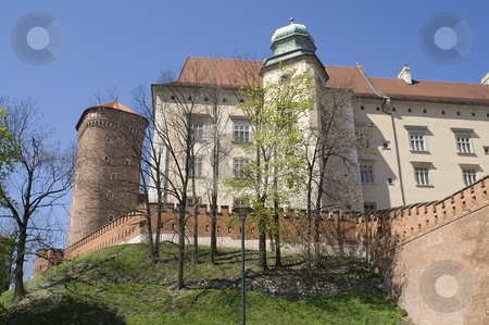 Wawel stock photo, A view of the Wawel fortress, Krakow, Poland. by Stephen Sienczyk