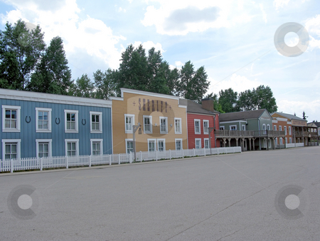 Cowboy Town stock photo, A deserted cowboy town, with wooden buildings. by Lucy Clark