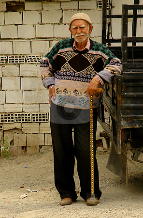 Old Turkish men stock photo, Old Turkish man in the street of Ankara by Kobby Dagan