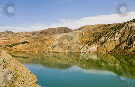 Reflection stock photo, Reflection on a lake in east Turkey by Kobby Dagan