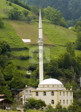 Mosque stock photo, Mosque in village at north east turkey by Kobby Dagan