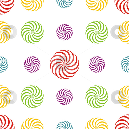 Seamless texture stock photo, Seamless texture - a pattern of multiple coloured abstract rotating elements repeating seamlessly by Mihai Zaharia