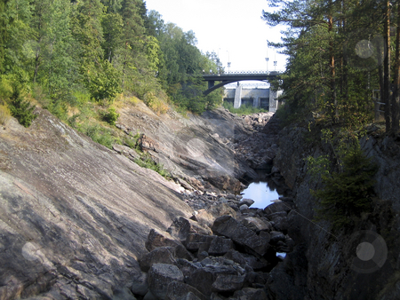 Dry river stock photo, Dry river near Imatra dam, Finland by Alessandro Rizzolli