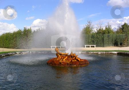 Versailles fountain stock photo, Fountain in the garden of Versailles by Jaime Pharr