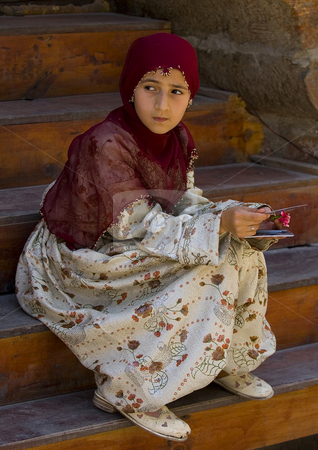 Turkish girl stock photo, Turkish girl with traditional clothes by Kobby Dagan