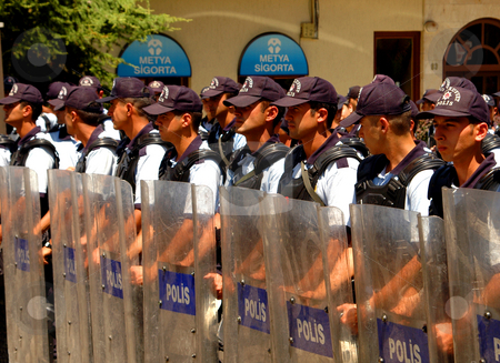Turkish police stock photo, Turkish police at time of demonstration in Ankara by Kobby Dagan