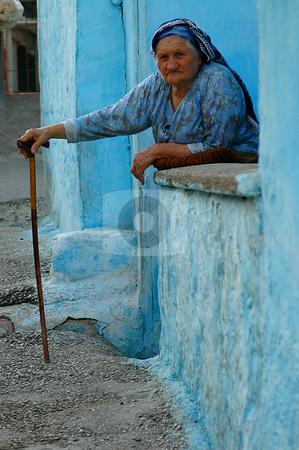Old woman stock photo, Old Turkish woman in the street of Ankara by Kobby Dagan