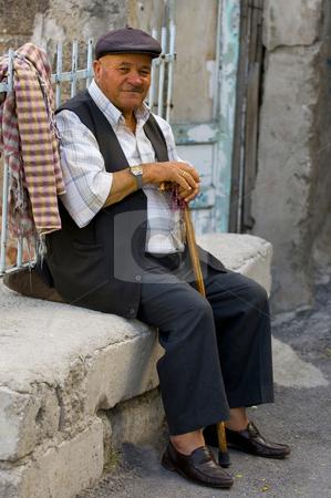 Old Turkish men stock photo, Old Turkish man in the street of Ankara by Kobby Dagan