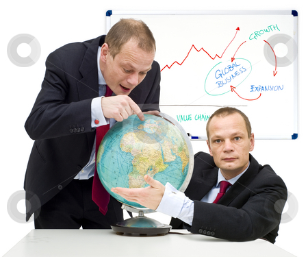 Expanding markets globally stock photo, Conceptual image of discovering the potential of global business and gaining confidence in it. by Corepics VOF