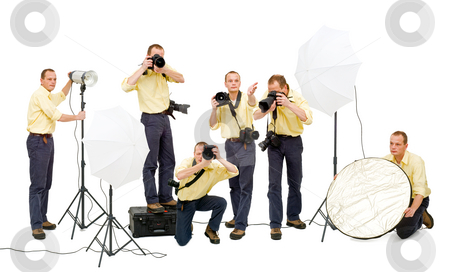 Photo crew stock photo, A photo crew during a studio shoot by Corepics VOF