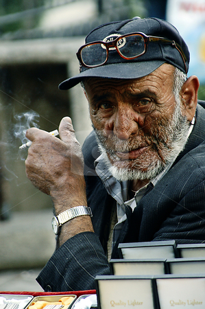 Turkish man stock photo, Portrait of old turkish man by Kobby Dagan